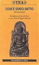 Canone buddhista. Così è stato detto…