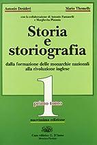 Storia e storiografia. 1: Dalla formazione…