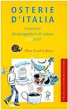 Osterie d'Italia: 1990-2010: sussidiario del…