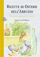 Ricette di osterie dell'Abruzzo. Panarde,…
