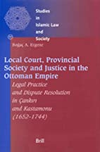 Local Court, Provincial Society and Justice…