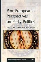 Pan-European perspectives on party politics…
