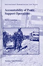 Accountability of Peace Support Operations…
