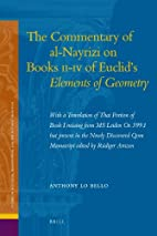 The Commentary of al-Nayrizi on Books II-IV…