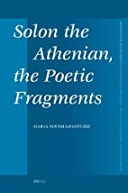 Solon the Athenian, the Poetic Fragments…