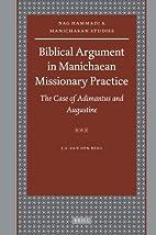 Biblical argument in Manichaean missionary…
