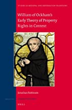 William of Ockham's Early Theory of…