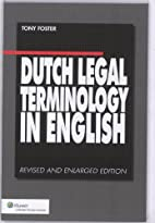 Dutch legal terminology in english by Tony…