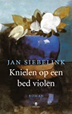 Knielen op een bed violen by Jan. Siebelink