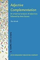 Adjective Complementation: An empirical…