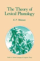 The Theory of Lexical Phonology (Studies in…