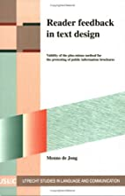 Reader feedback in text design. Validity of…