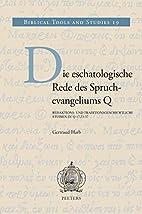Die Eschatologische Rede Des…