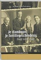 Je stamboom, je familiegeschiedenis stap…