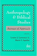 Anthropology and Biblical Studies: Avenues…