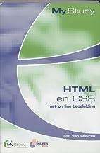 MyStudy HTML met CSS by B. van Duuren