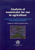 Analysis of wastewater for use in…
