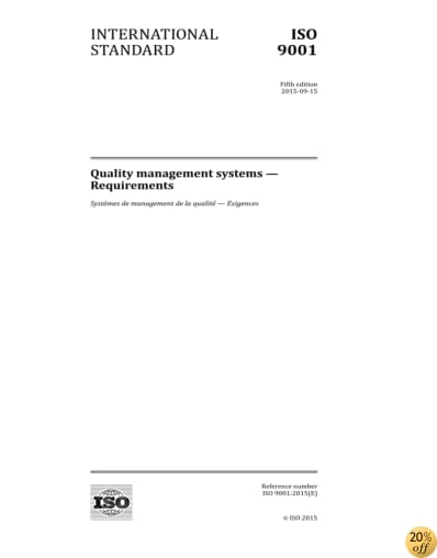 TISO 9001:2015, Fifth Edition: Quality management systems - Requirements