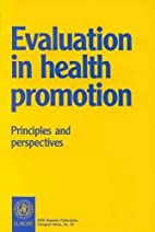 Evaluation in Health Promotion: Principles…