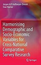 Harmonising Demographic and Socio-Economic…