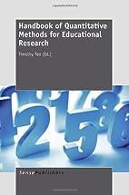 Handbook of Quantitative Methods for…