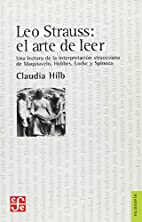 Leo Strauss: el arte de leer. Una lectura de…
