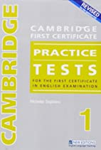 Cambridge Fce Practice Tests 1 CD by…