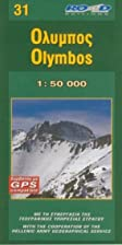 Olymbos. 1:50 000. Map of Olympus (Maps of…