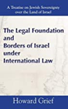 The Legal Foundation and Borders of Israel…