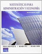 Matematicas para Administracion y Economia…