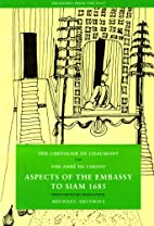 Aspects of the Embassy to Siam 1685…