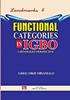 Functional Categories in Igbo. a Minimalist…