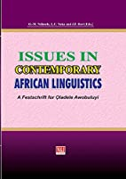 Issues in Contemporary African Linguistics:…