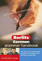 Berlitz German Grammar Handbook (Berlitz…