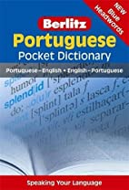 Portuguese Pocket Dictionary by Berlitz…