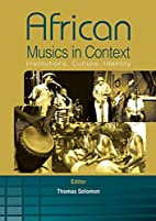 African Musics in Context. Institutions,…