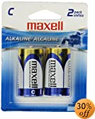 Maxell Alkaline LR14 2BP C Cell 2 Pack Battery (723320)