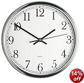 Kitchen Craft Clock, Stainless Steel, 25cm