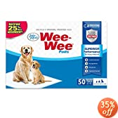 Four Paws Wee-Wee Standard Dog House Breaking Pads, 50 Pack