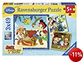 Ravensburger 09337 - Disney Jake and the Neverlands Pirates Puzzle, 3 x 49 Teile
