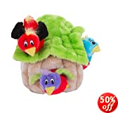 Outward Hound 31009 Hide A Bird Dog Toys Interactive Plush Squeak 4-Piece Toy, Large, Multicolor