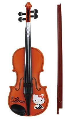 ハローキティがプリントされたかわいいバイオリンです