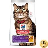 Hill's Science Diet Adult Sensitive Stomach & Skin Dry Cat Food - 3.5 -Pound Bag