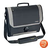 Targus CityGear Miami Messenger Case for 17-Inch Notebooks, Black with Grey (TCG200)