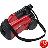 "Sanitaire SC3683A Detail Cleaning Commercial Vacuum, 7' Hose, 20' Cord, 10 Amps, 18"" Length x 11"" Width x 19"" Height, Red"