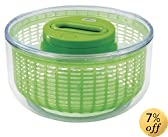 Zyliss Easy Spin Salad Spinner, Large, Green