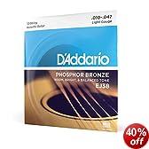 D'Addario EJ38 Phosphor Bronze Light  (.010-.047) 12-String Acoustic Guitar Strings