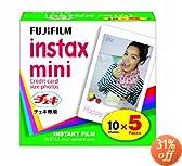 FUJIFILM Instax Mini Cheki Film 5pack(10picture X5)