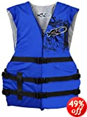 X20 Universal Adult Life Jacket Vest - Blue &amp; Black