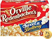 nbacher&#39;s Gourmet Microwavable Popcorn, Sweet &amp; Buttery, 3-Count Boxes (Pack of 12): Amazon.com